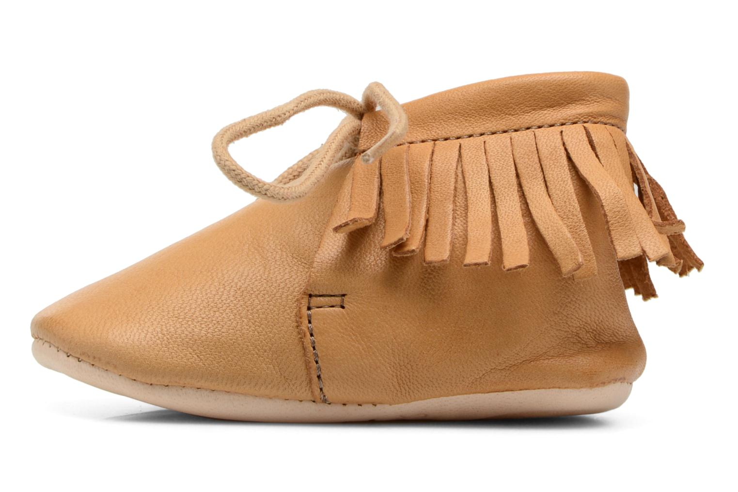 Chaussons Easy Peasy Meximoo Marron vue face