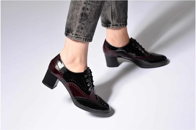 Chaussures à lacets The Flexx Ariel Noir vue bas / vue portée sac