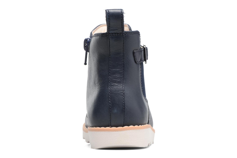 Bottines et boots Clarks Crown Art Inf Bleu vue droite
