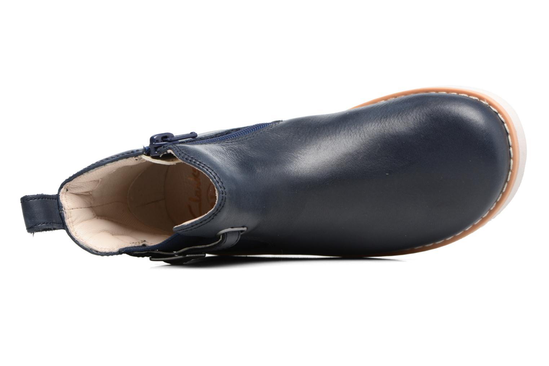 Bottines et boots Clarks Crown Art Inf Bleu vue gauche