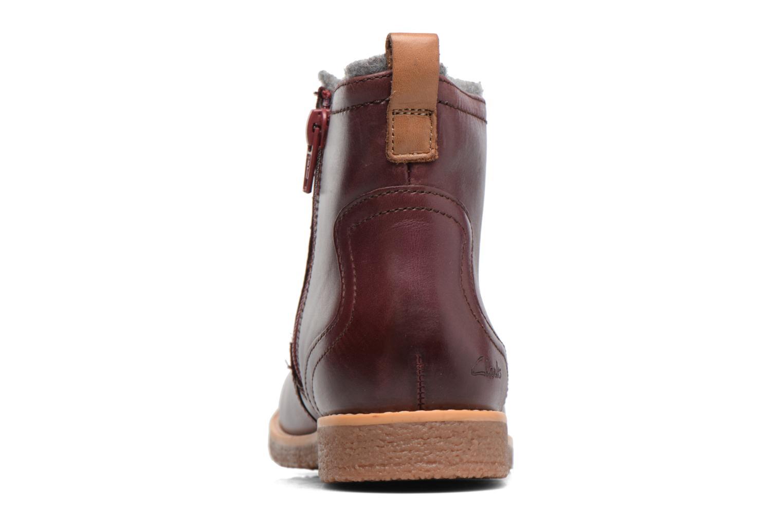 Bottines et boots Clarks Tildy Moe Bordeaux vue droite