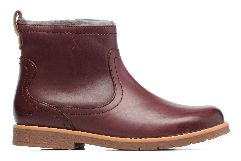 Bottines et boots Clarks Tildy Moe Bordeaux vue derrière