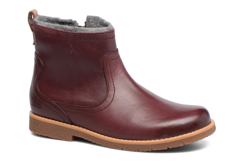 Bottines et boots Clarks Tildy Moe Bordeaux vue détail/paire