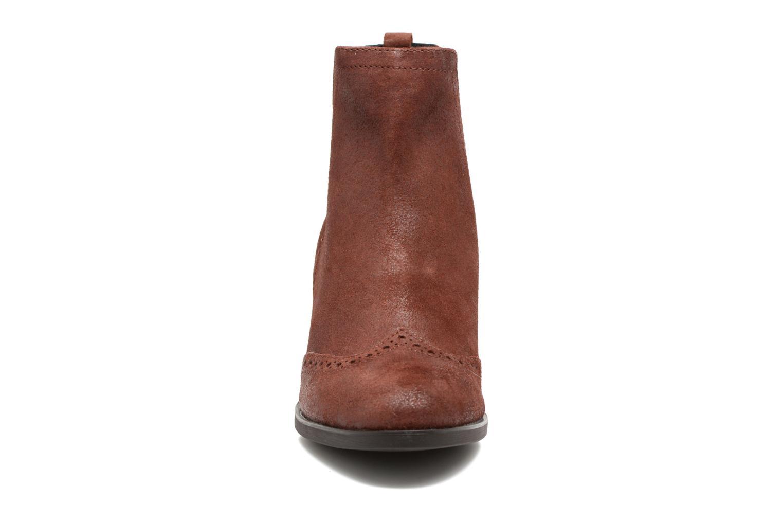Bottines et boots Geox D Glynna B D743CB Marron vue portées chaussures