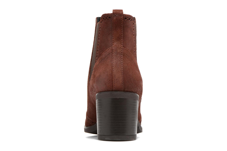 Bottines et boots Geox D Glynna B D743CB Marron vue droite
