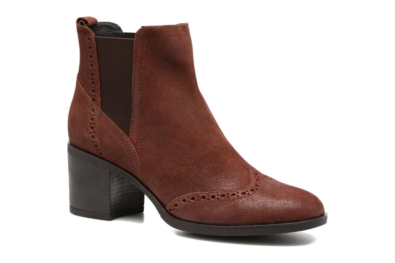 Bottines et boots Geox D Glynna B D743CB Marron vue détail/paire