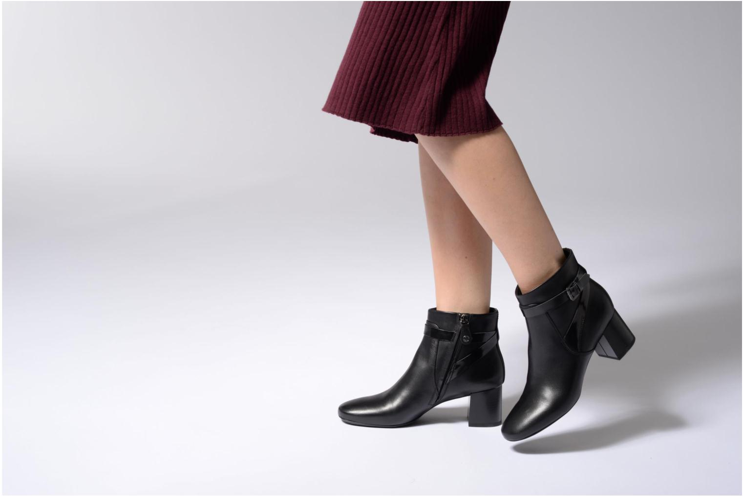 Ankle boots Geox D Audalies M.B D743YB Black view from underneath / model view