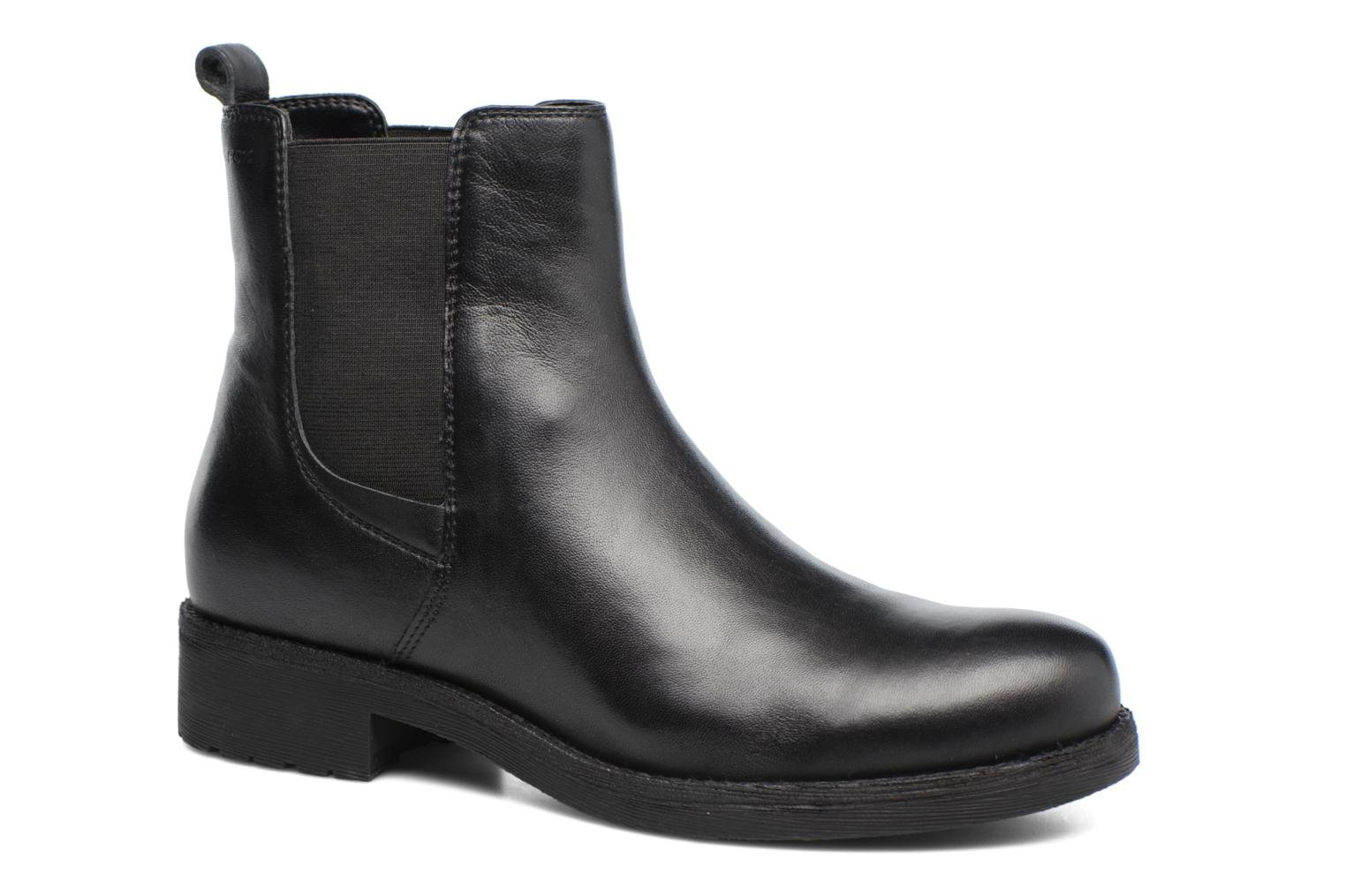Ankle boots Geox D New Virna F D7451F Black detailed view/ Pair view