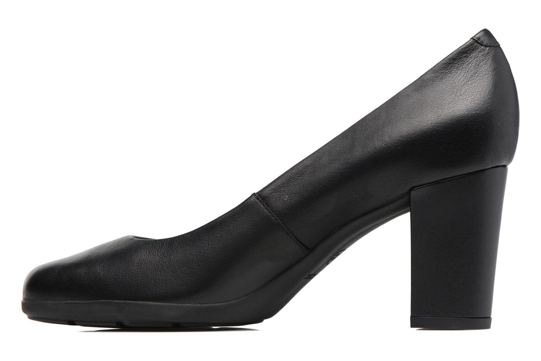 High heels Geox D Annya C D745FC Black front view