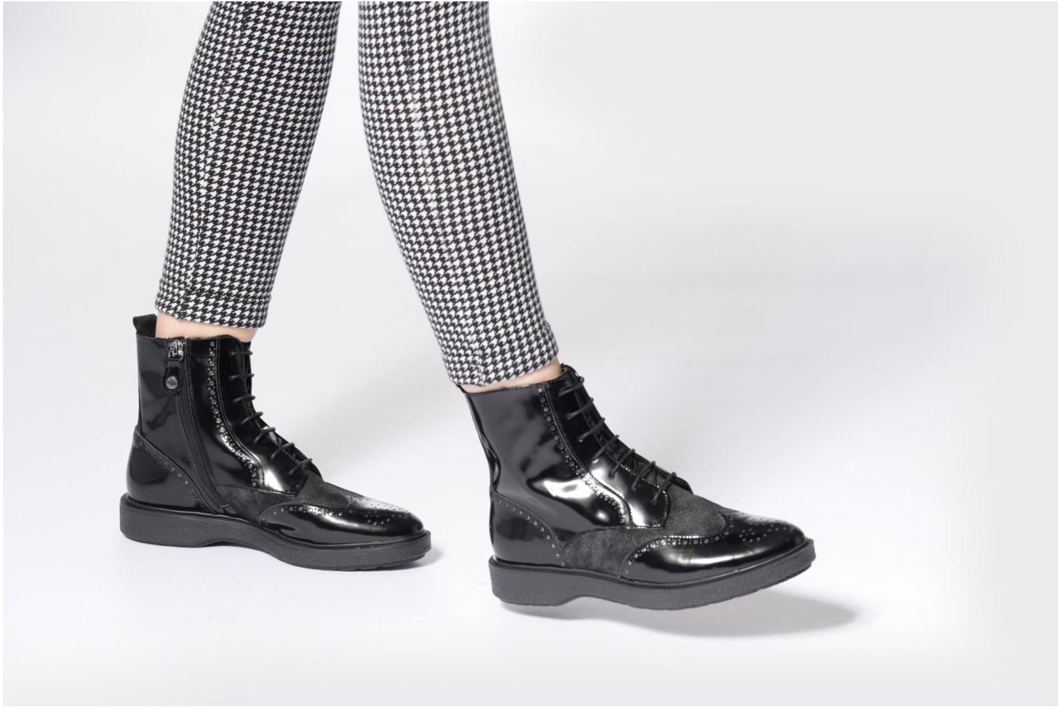 Ankle boots Geox D Prestyn A D745WA Black view from underneath / model view