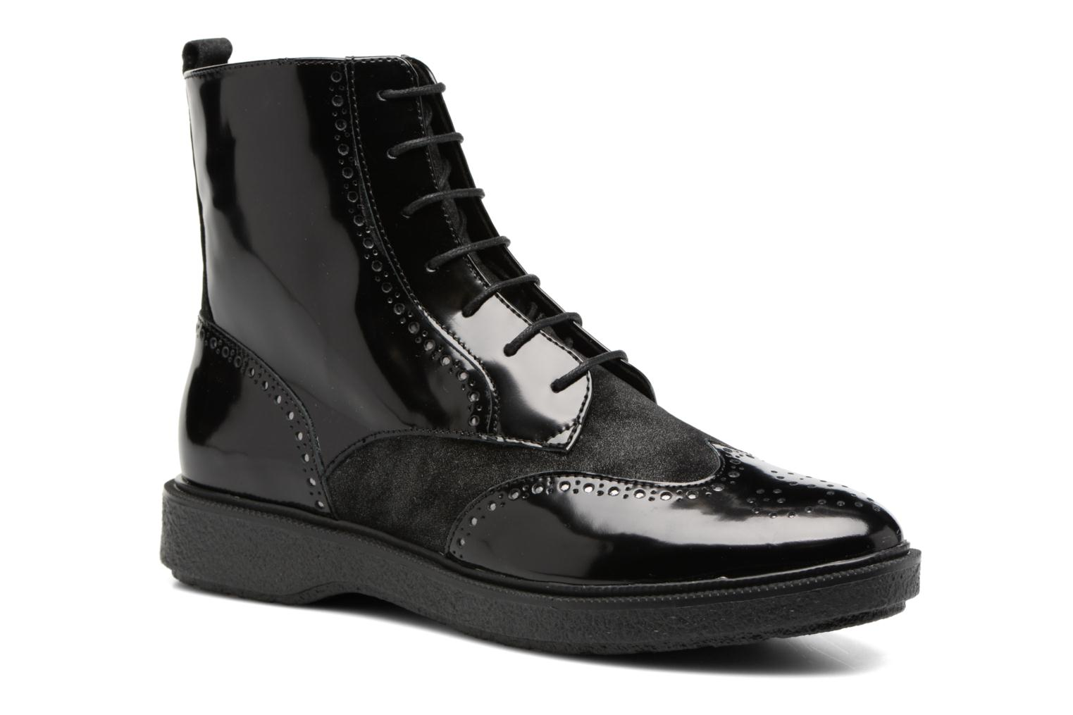 Ankle boots Geox D Prestyn A D745WA Black detailed view/ Pair view