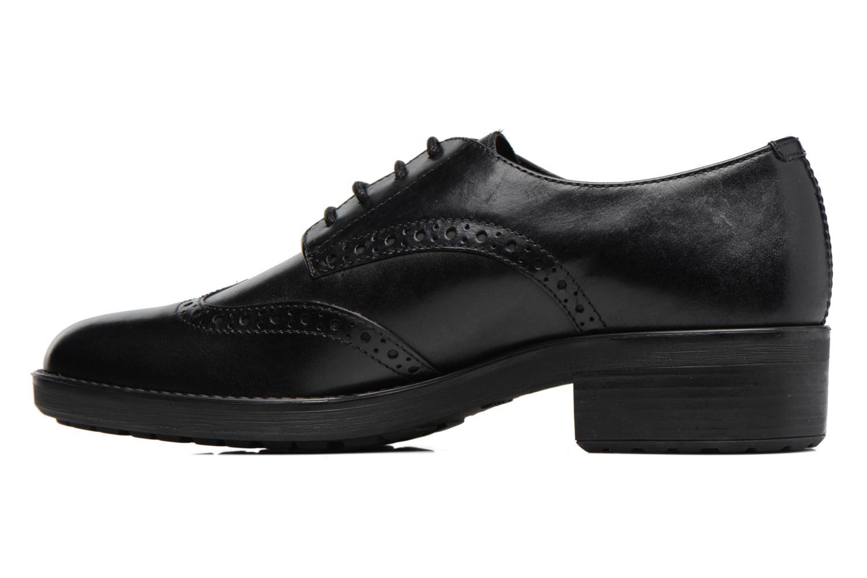 Chaussures à lacets Geox D Ettiene D D746BD Noir vue face