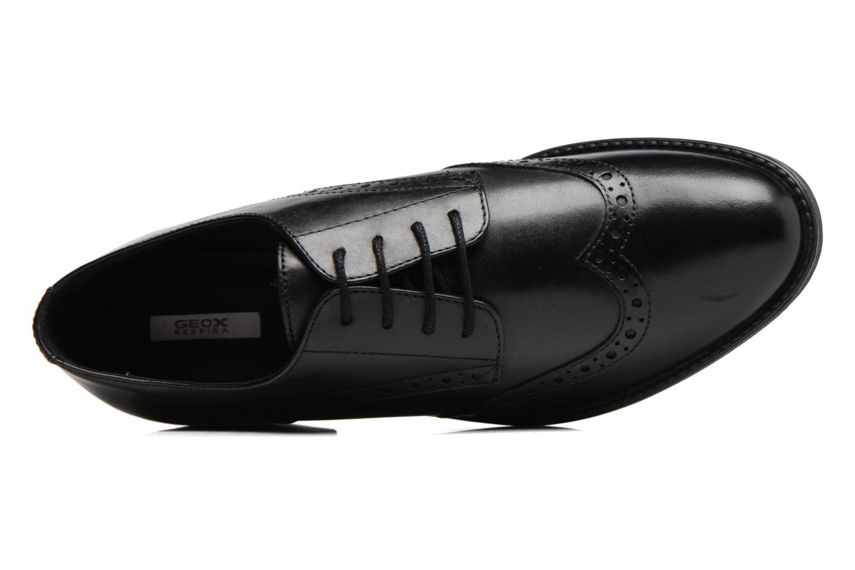 Chaussures à lacets Geox D Ettiene D D746BD Noir vue gauche
