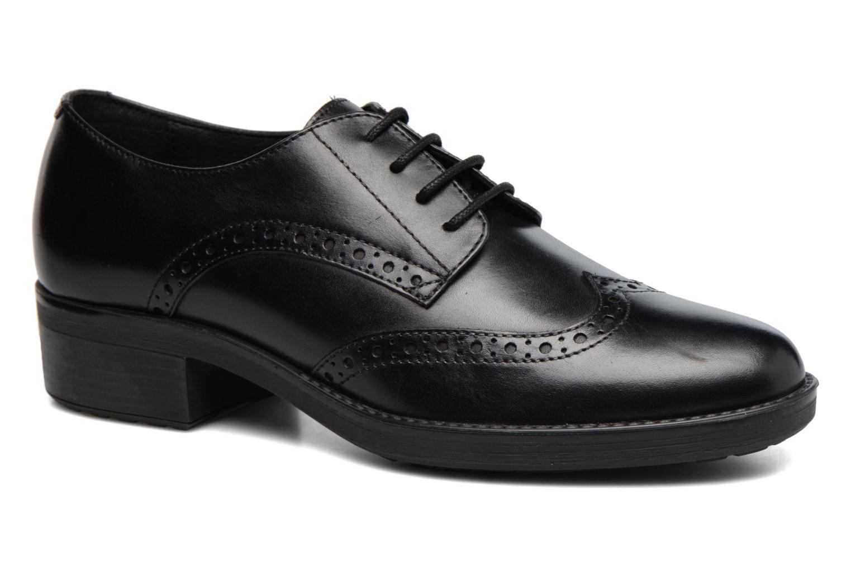 Chaussures à lacets Geox D Ettiene D D746BD Noir vue détail/paire