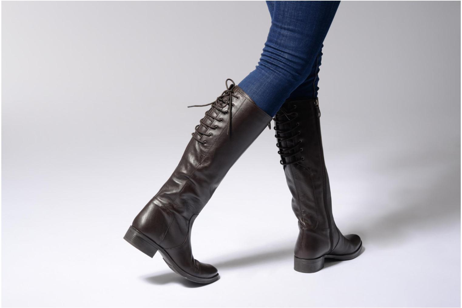 Boots & wellies Geox D Mendi St B D7490B Black view from underneath / model view