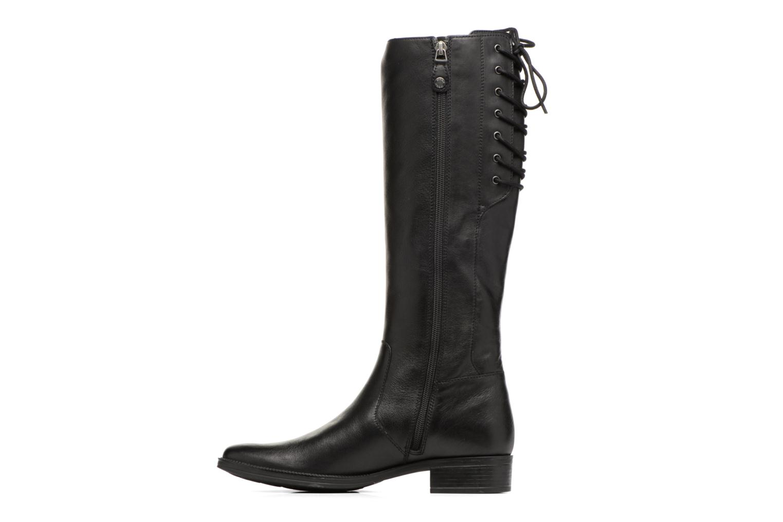 Boots & wellies Geox D Mendi St B D7490B Black front view