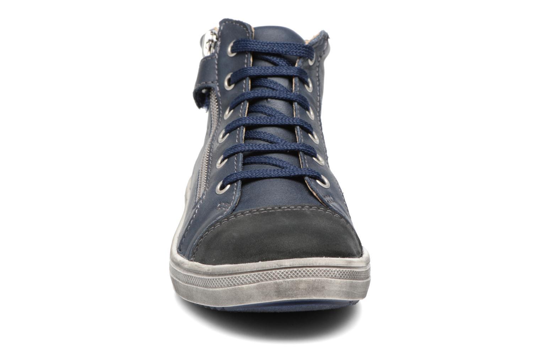Baskets GBB Nico Bleu vue portées chaussures