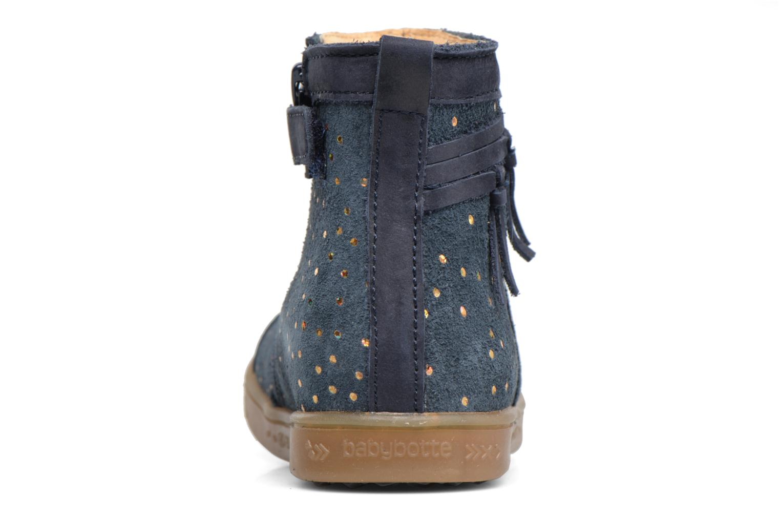 Ankle boots Babybotte Ambalada Blue view from the right