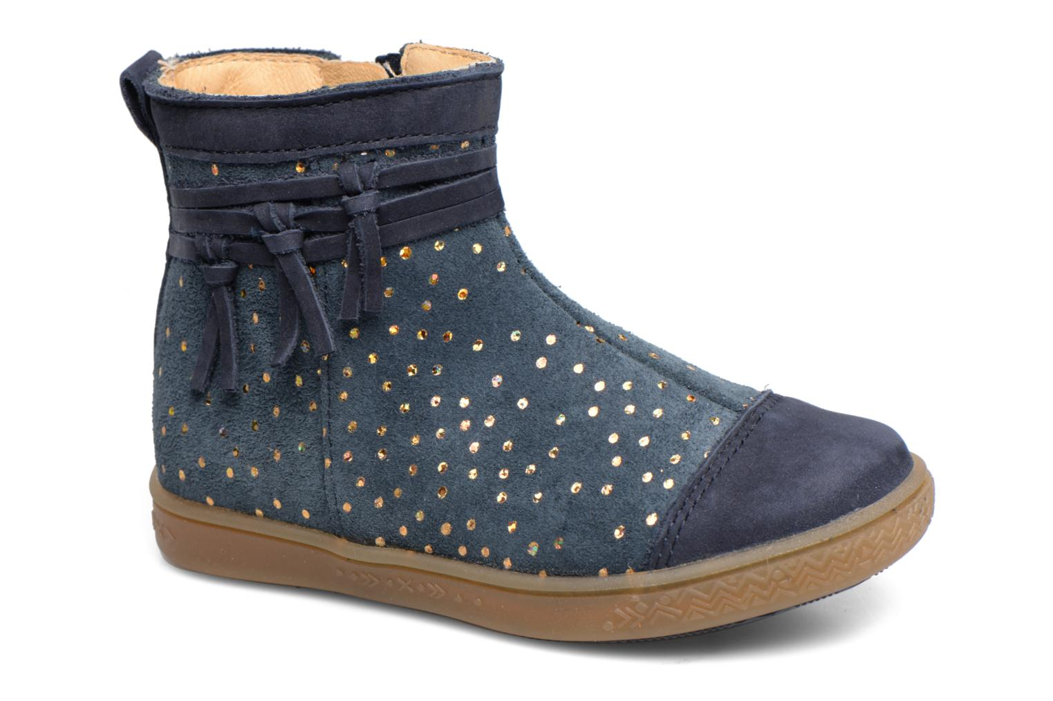 Ankle boots Babybotte Ambalada Blue detailed view/ Pair view