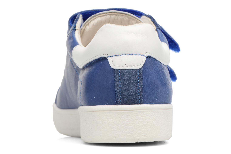 Baskets Babybotte B4 Velcro Bleu vue droite