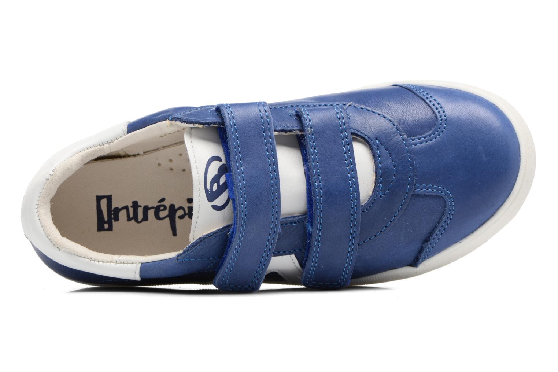Baskets Babybotte B4 Velcro Bleu vue gauche