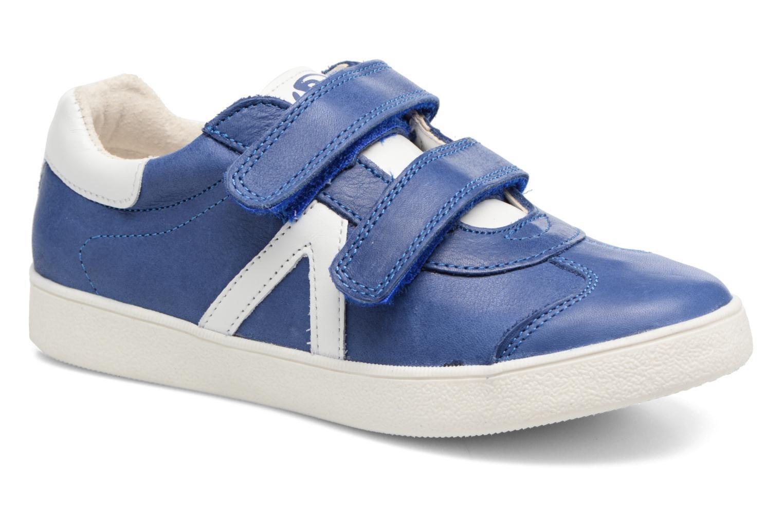 Baskets Babybotte B4 Velcro Bleu vue détail/paire