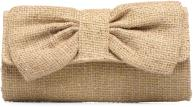 Kleine lederwaren Tassen woven bow