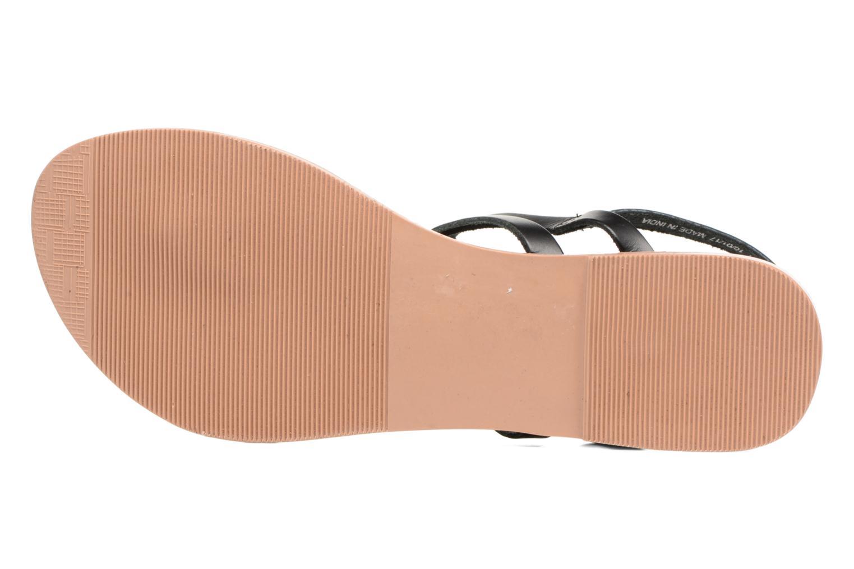 Sandales et nu-pieds Dorothy Perkins flavia plait Noir vue haut