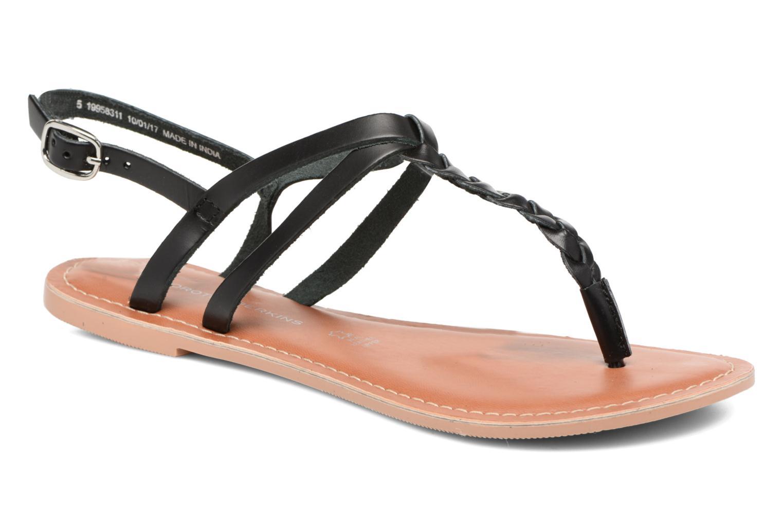 Sandales et nu-pieds Dorothy Perkins flavia plait Noir vue détail/paire