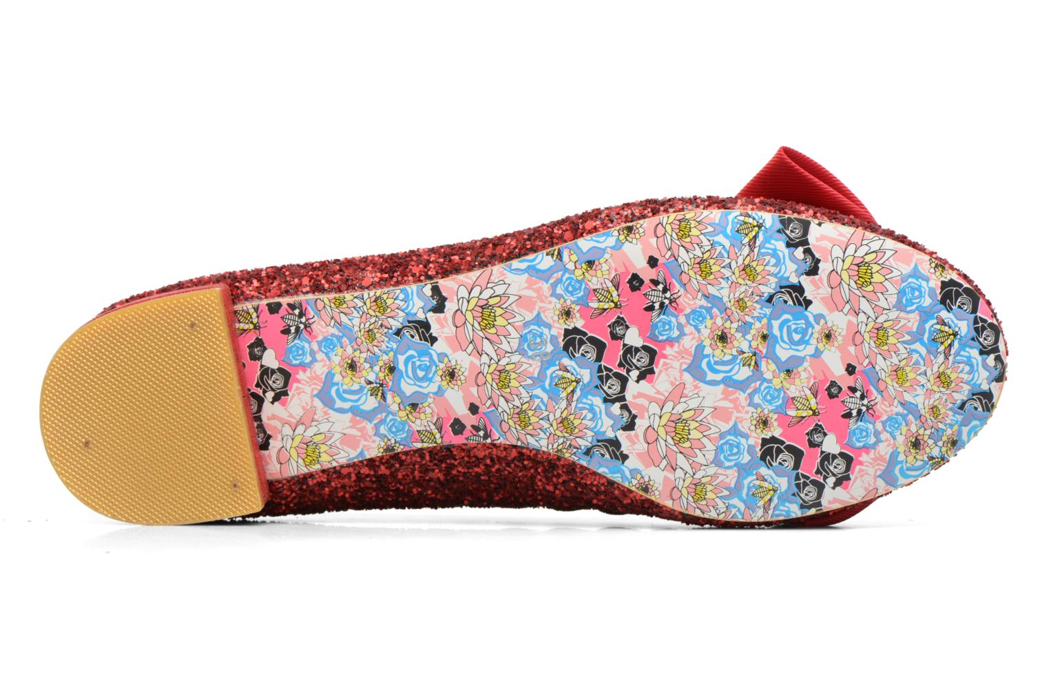 Ballerines Irregular Choice Sulu Rouge vue haut