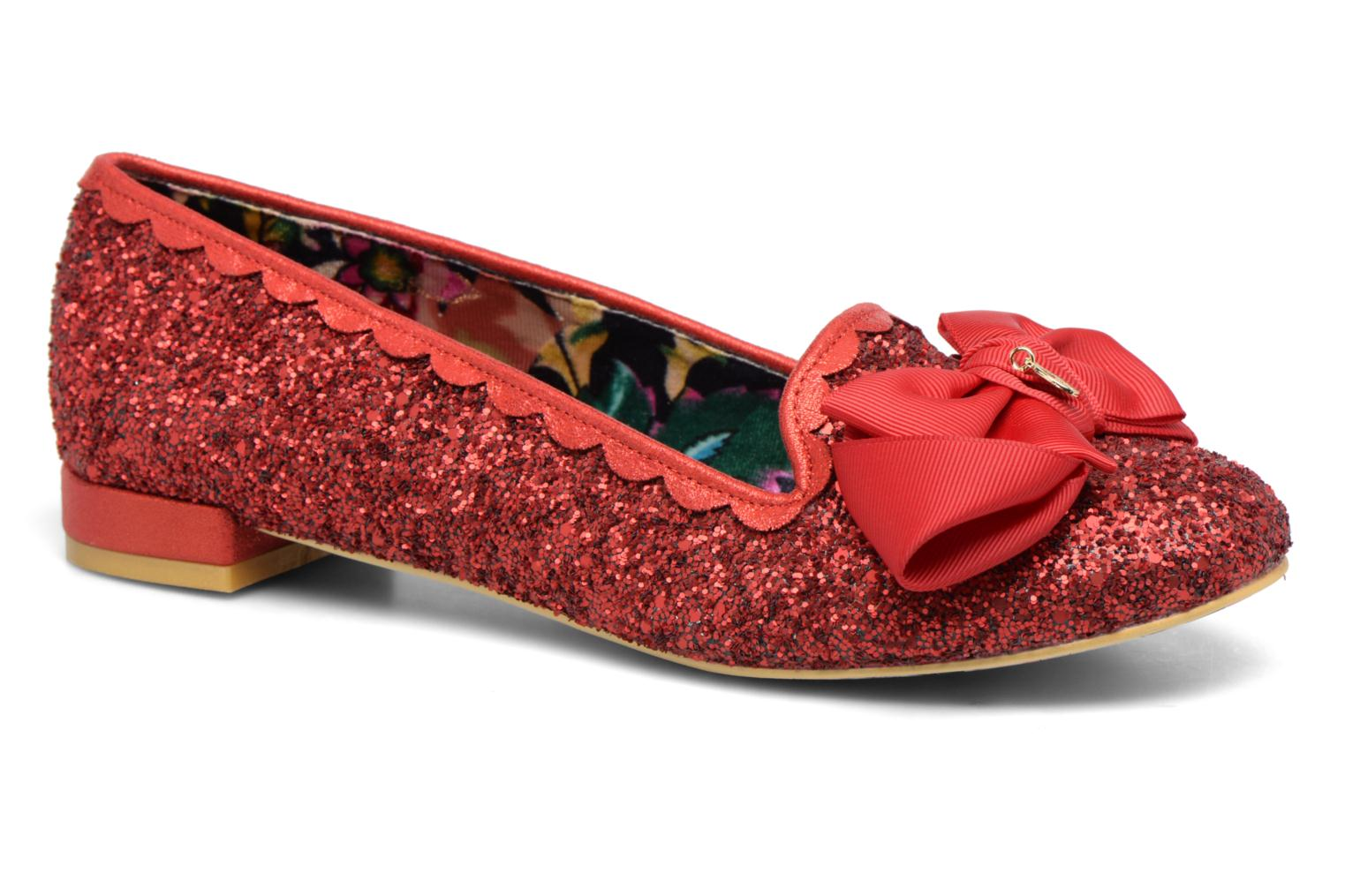 Ballerines Irregular Choice Sulu Rouge vue détail/paire