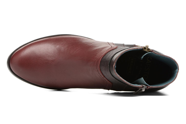 Bottines et boots Karston GLENO Bordeaux vue gauche