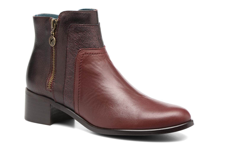 Bottines et boots Karston GLENO Bordeaux vue détail/paire