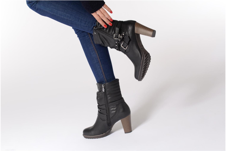 Bottines et boots Tom Tailor Lucile Noir vue bas / vue portée sac
