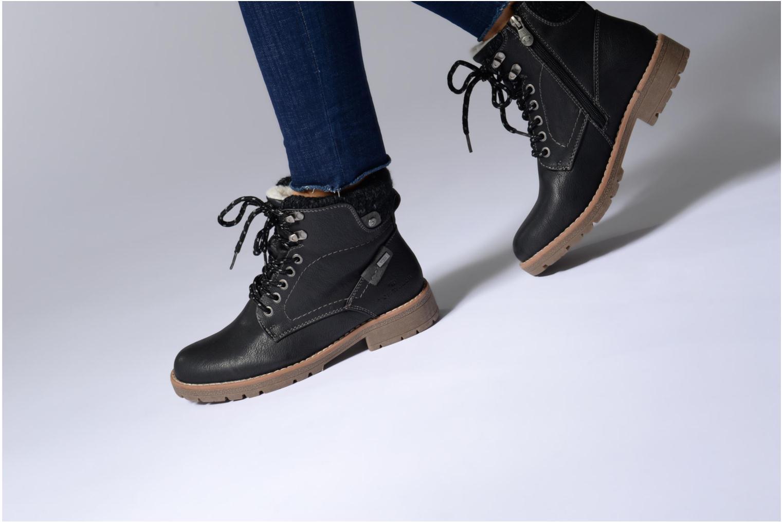 Bottines et boots Tom Tailor Louise Noir vue bas / vue portée sac