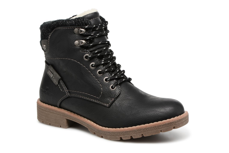 Bottines et boots Tom Tailor Louise Noir vue détail/paire