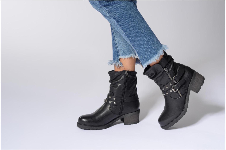 Bottines et boots Tom Tailor Célia Noir vue bas / vue portée sac