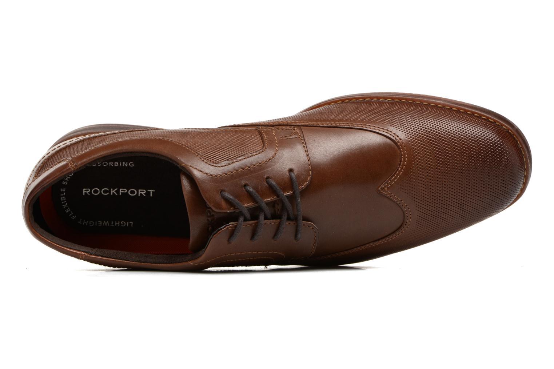 Zapatos con cordones Rockport SP Perf Wingtip Marrón vista lateral izquierda