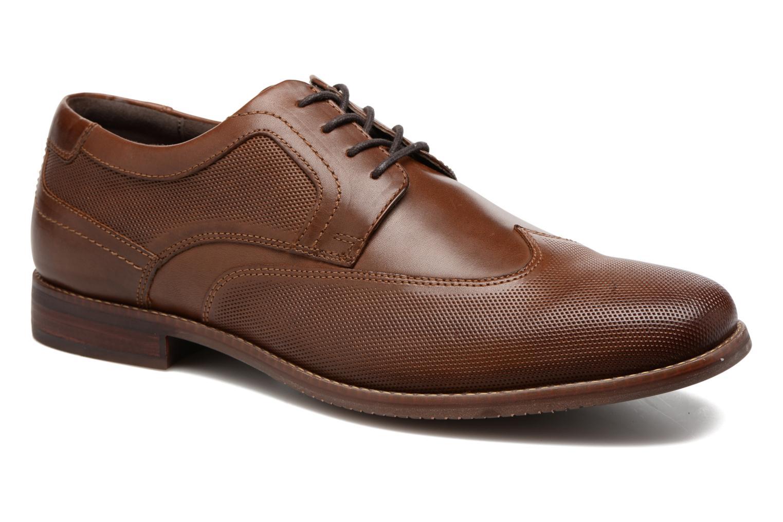 Zapatos con cordones Rockport SP Perf Wingtip Marrón vista de detalle / par