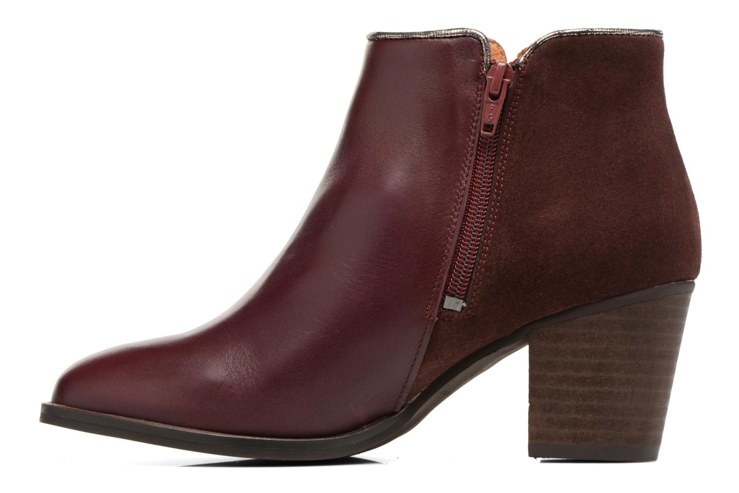 Ankle boots Georgia Rose Catalon Burgundy front view