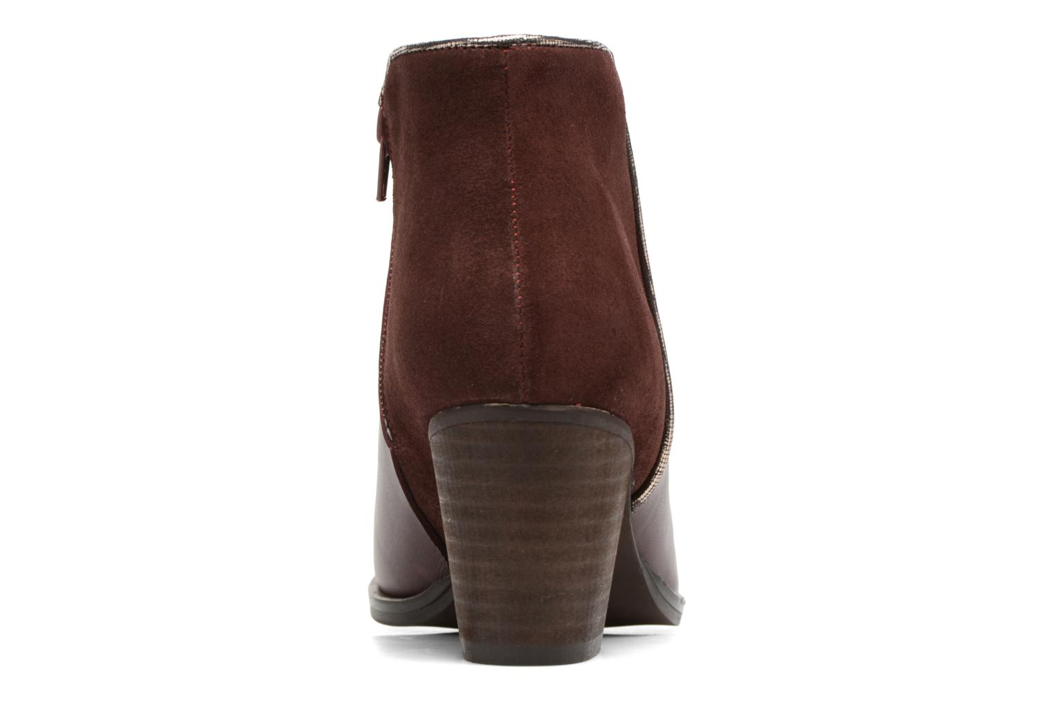 Ankle boots Georgia Rose Catalon Burgundy view from the right