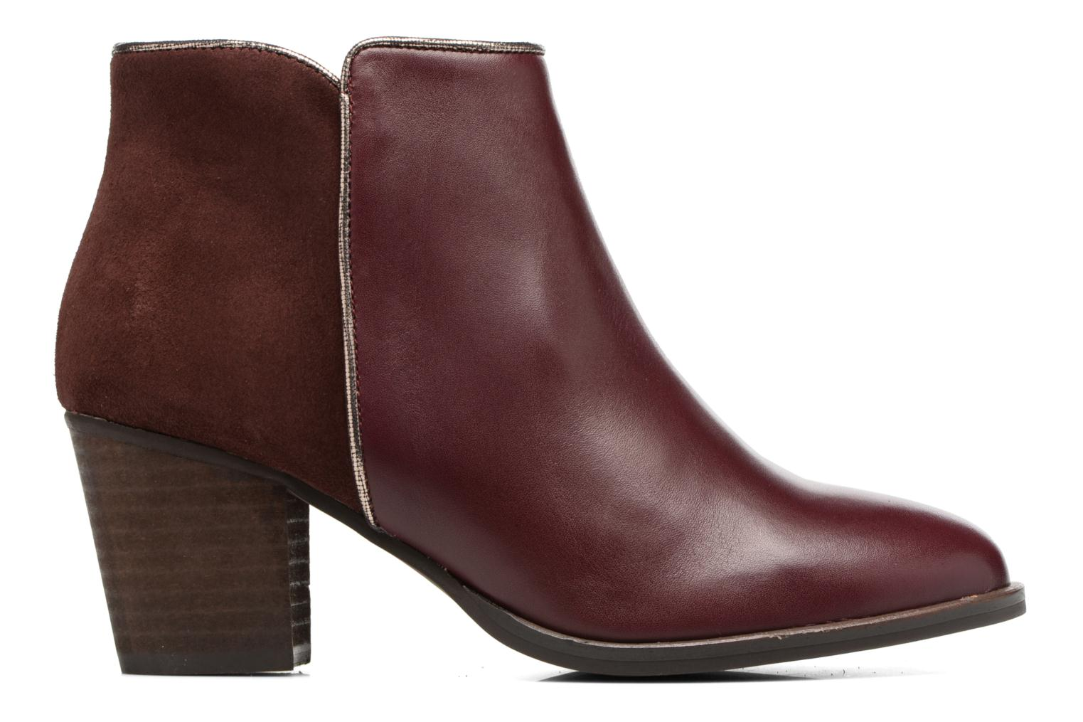 Ankle boots Georgia Rose Catalon Burgundy back view