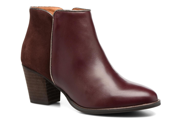 Bottines et boots Georgia Rose Catalon Bordeaux vue détail/paire