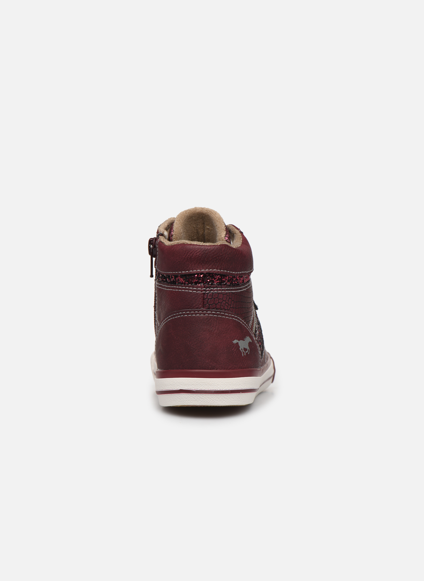 Trainers Mustang shoes Eper Burgundy view from the right