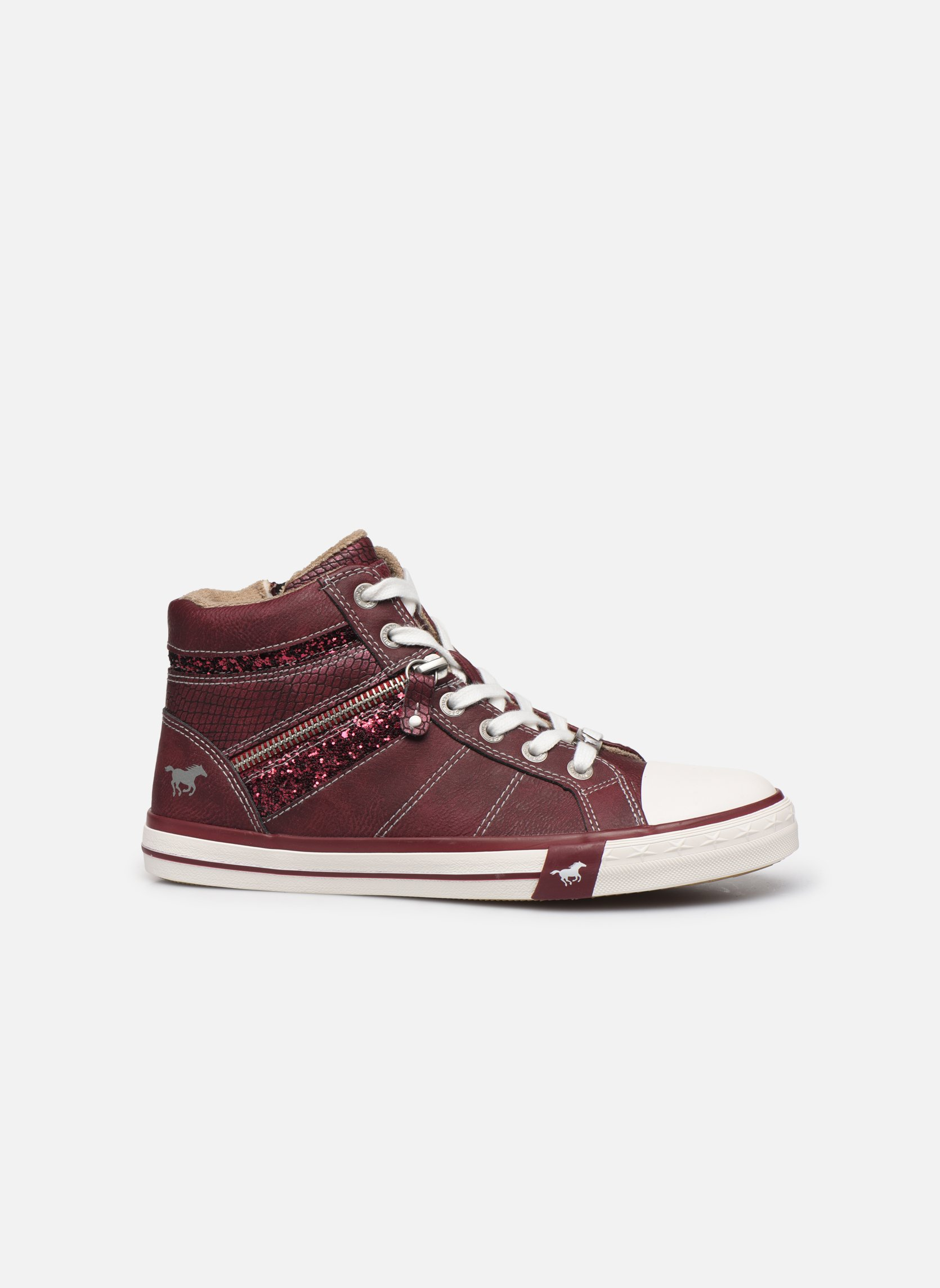 Trainers Mustang shoes Eper Burgundy back view
