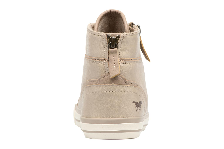 Baskets Mustang shoes Bala Beige vue droite