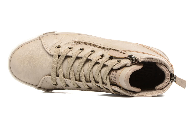 Baskets Mustang shoes Bala Beige vue gauche