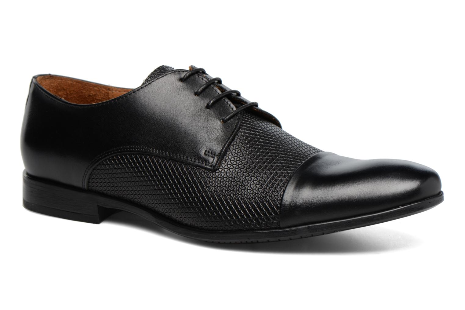 Lace-up shoes Marvin&co Nutley Black detailed view/ Pair view