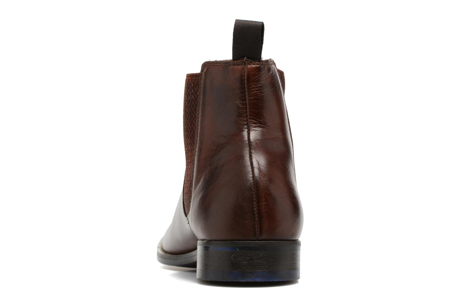 Ankle boots Marvin&co Newgale Brown view from the right