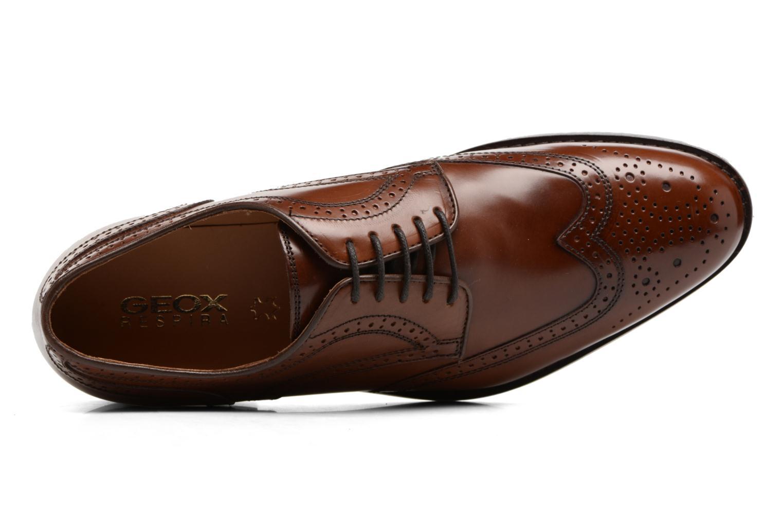 Chaussures à lacets Geox U Hampstead D  U52E3D Marron vue gauche